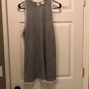 Gray mini dress. Medium.